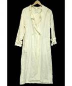aquagirl(アクアガール)の古着「ガウン風スプリングコート」 ホワイト