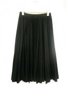 ENFOLD(エンフォルド)の古着「ウールプリーツスカート」|ブラック