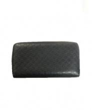 GUCCI(グッチ)の古着「GGラウンドファスナー長財布」|ブラック
