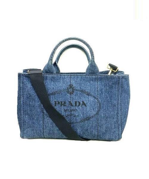 507fd7049bd3 中古・古着通販】PRADA (プラダ) 2WAYカナパデニムトートバッグ ...