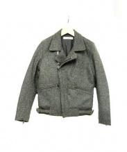 FUJITO(フジト)の古着「ウールライダースジャケット」|グレー