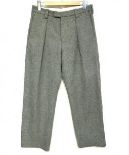 ETHOSENS(エトセンス)の古着「タックウールパンツ」|グレー