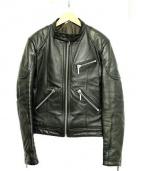 RED MOON(レッドムーン)の古着「シングルライダースジャケット」|ブラック