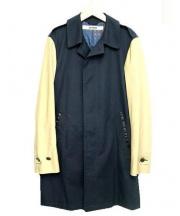 FACTOTUM(ファクトタム)の古着「WAXコーティングステンカラーコート」 ネイビー