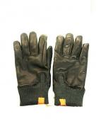 HONNS(ホンズ)の古着「レザー手袋」 ブラック