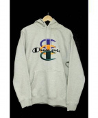 Supreme × Champion(シュプリーム × チャンピオン)の古着「Stacked C Hooded Sweatshirt」|グレー