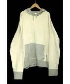Acne studios(アクネ ストゥディオズ)の古着「プルオーバーパーカー」|グレー×ホワイト