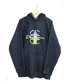 Supreme×CHAMPION(シュプリーム×チャンピオン)の古着「Stacked C Hooded Sweatshirt」|ネイビー