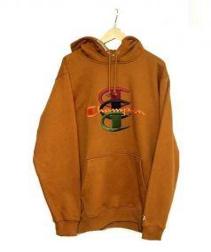 Supreme×CHAMPION(シュプリーム×チャンピオン)の古着「Stacked C Hooded Sweatshirt」|ブラウン