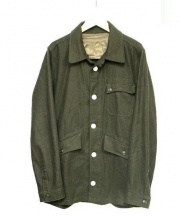 OR GLORY(オアグローリー)の古着「チェンジボタンカバーオール」|オリーブ