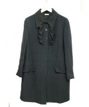 MIU MIU(ミュウミュウ)の古着「フリルコート」|ネイビー