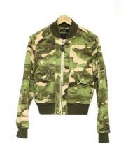 DIESEL(ディーゼル)の古着「MA-1ジャケット」|グリーン×ベージュ