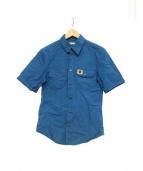 BALENCIAGA(バレンシアガ)の古着「半袖サファリシャツ」|ネイビー