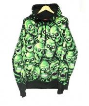 SUPREME(シュプリーム)の古着「Skull Pile Hooded Sweatshirt」|グリーン