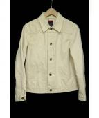 BRU NA BOINNE(ブルーナボイン)の古着「ダーラデニムジャケット」 アイボリー
