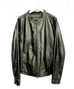 AQUELUE shama(アキュール シャマ)の古着「シングルライダースジャケット」|ブラック