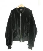 whiteland Blackburn(ホワイトランドブラックバーン)の古着「ベロアジャケット」|ブラック