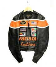 VANSON(バンソン)の古着「フラットトラックレーシングジャケット」|ブラック