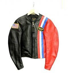 VANSON(バンソン)の古着「レザージャケット」|レッド×ブラック