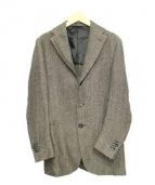DOPPIAA(ドッピア)の古着「ヘリンボン3Bジャケット」|ベージュ