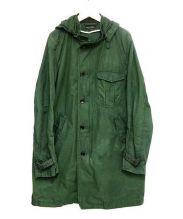 MARVY JAMOKE(マービージャモーク)の古着「2WAYフーデッドスタンドカラーコート」 グリーン