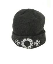 CHROME HEARTS(クロムハーツ)の古着「ホースシュークロスステッチニット帽」|ブラック
