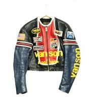 VANSON(バンソン)の古着「ワンスターバイカージャケット」|ブラック