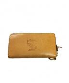 TED COMPANY(テッドカンパニー)の古着「ラウンドファスナー長財布」|ベージュ