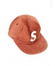 SUPREME(シュプリーム)の古着「Suede S Logo 6-Panel cap」|レッド