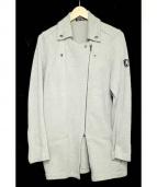 Hysteric Glamour(ヒステリックグラマ)の古着「ダブルライダーススウェットジャケット」|グレー