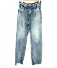 upper hights(アッパー ハイツ)の古着「カットオフデニムパンツ」|スカイブルー