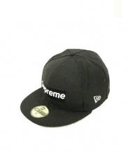 SUPREME × NEWERA(シュプリーム × ニューエラ)の古着「ボックスロゴパイピングキャップ」|ブラック