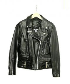 MAISON DE REEFUR×ADDICT CLOTHES(メゾンドリーファー×アディクト クローズ)の古着「レザーライダースジャケット」 ブラック