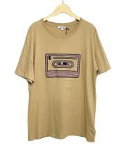 CARVEN(カルヴェン)の古着「カセットアップリケTシャツ」|ベージュ