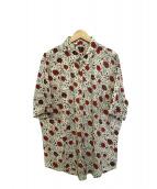 PS Paul Smith(ピーエスポールスミス)の古着「花柄半袖シャツ」|ベージュ×レッド