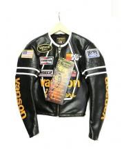 VANSON(バンソン)の古着「スターシングルライダースジャケット」|ブラック