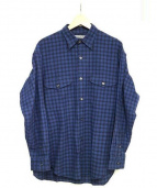 7×7 SEVEN BY SEVEN(セブンバイセブン)の古着「TACK SHIRT」|ネイビー
