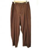 Badhiya(バディーヤ)の古着「タックワイドパンツ」|ブラウン