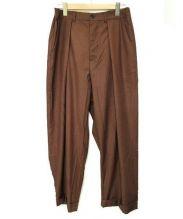 Badhiya(バディーヤ)の古着「タックワイドパンツ」 ブラウン