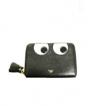 ANYA HINDMARCH(アニヤ ハインドマーチ)の古着「Eyes Small Zip Round Wallet」|ブラック