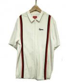 SUPREME(シュプリーム)の古着「ベロアジップ半袖シャツ」 ホワイト