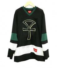 SUPREME(シュプリーム)の古着「ホッケージャージシャツ」|ブラック×グリーン