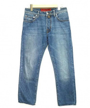 JACOB COHEN(ヤコブコーエン)の古着「テーパードデニムパンツ」|インディゴ
