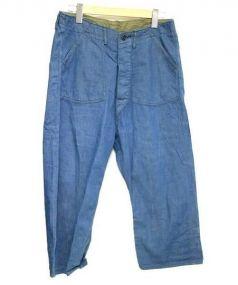 canton overalls(キャントン オーバーオールズ)の古着「デニムクロップドパンツ」|ブルー