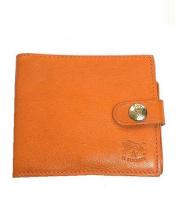 IL BISONTE(イルビゾンテ)の古着「3つ折り財布」|オレンジ
