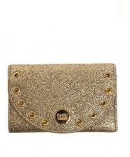 SEE BY CHLOE(シー バイ クロエ)の古着「3つ折り財布」|ゴールド