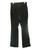 GEN IZAWA(ゲンイザワ)の古着「コーデュロイフレアパンツ」|ブラック
