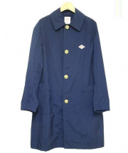 DANTON(ダントン)の古着「ポリエステルダブルクロス ルーズフィットコート」|ネイビー