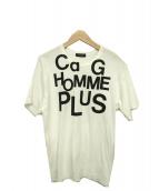 COMME des GARCONS HommePlus(コムデギャルソンオムプリュス)の古着「プリントTシャツ」|ホワイト