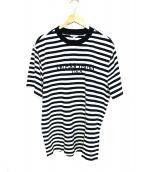 GUESS(ゲス)の古着「ボーダーTシャツ」|ブラック×ホワイト